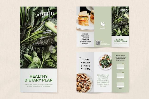 Vecteur de modèle de brochure de programme diététique