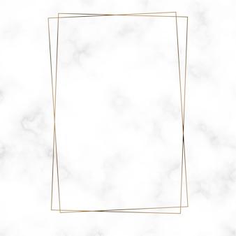 Vecteur modèle cadre rectangle doré