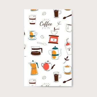 Vecteur de modèle café et café