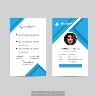 Vecteur de modèle de carte d'identité d'employé