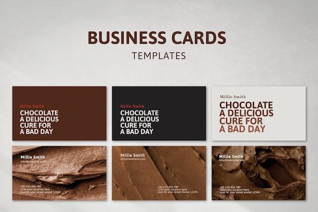 Vecteur de modèle de carte de visite de boulangerie sertie de texture de glaçage