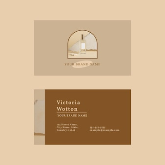 Vecteur de modèle de carte de visite cosmétique