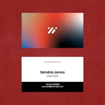 Vecteur de modèle de carte de visite moderne pour entreprise technologique en dégradé de couleurs