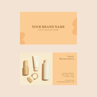 Vecteur de modèle de carte de visite de soins de la peau