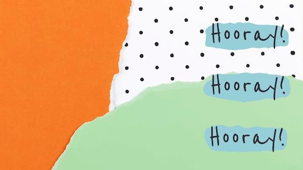 Vecteur de modèle de collage de papier esthétique pour bannière de blog