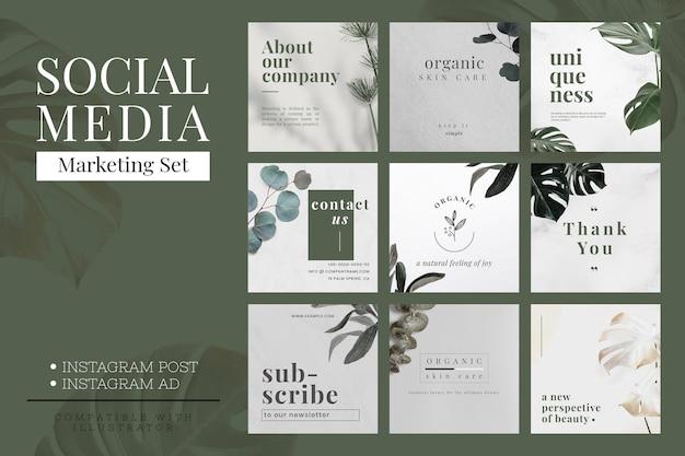 Vecteur de modèle de conception de bannière minimaliste de marketing de médias sociaux
