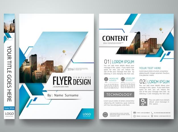 Vecteur de modèle de conception de brochure