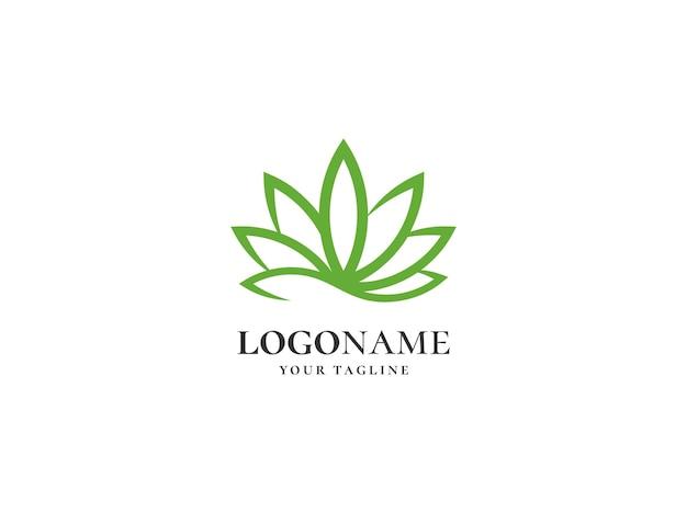 Vecteur de modèle de conception de logo de feuille de cannabis