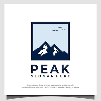 Vecteur de modèle de conception de logo de montagne