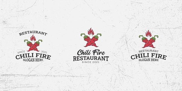 Vecteur de modèle de conception de logo de piment épicé, piment, piment fort, piment rouge, nourriture épicée