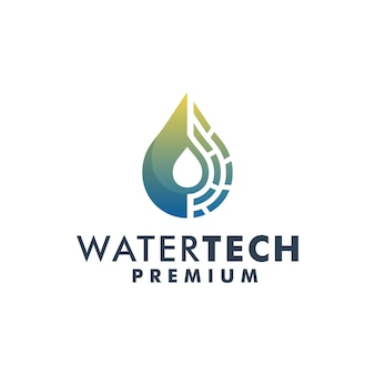Vecteur de modèle de conception de logo de technologie de l'eau