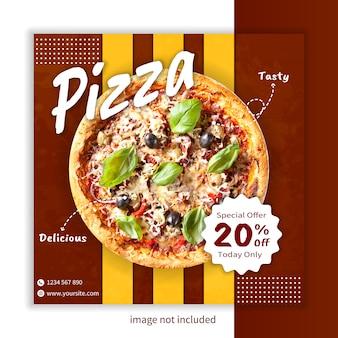 Vecteur de modèle de délicieux aliments instagram bannière