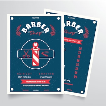 Vecteur de modèle de flyer barber shop