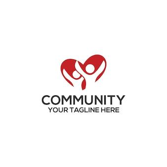 Vecteur de modèle de logo communautaire. vecteur de concept de logo communautaire