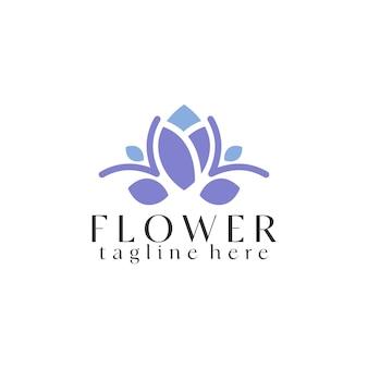 Vecteur de modèle de logo de fleur vecteur de concept de logo de plante
