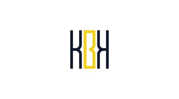 Vecteur de modèle de logo lettre kbk