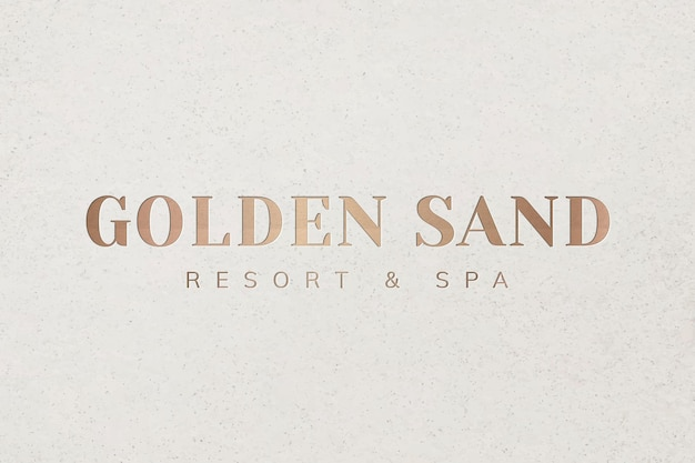 Vecteur de modèle de logo en or métallique pour les entreprises de spa