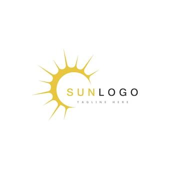 Vecteur de modèle de logo de soleil d'été