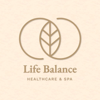 Vecteur de modèle de logo de spa modifiable pour la santé et le bien-être