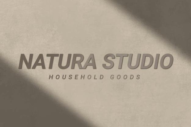 Vecteur de modèle de logo texturé en béton pour les entreprises d'articles ménagers