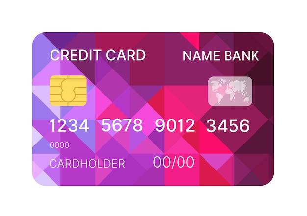 Vecteur de modèle multicolore de carte de crédit avec dessin abstrait