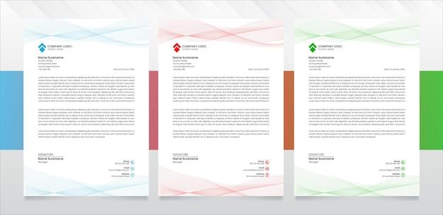 Vecteur de modèle de papier à en-tête d'entreprise moderne