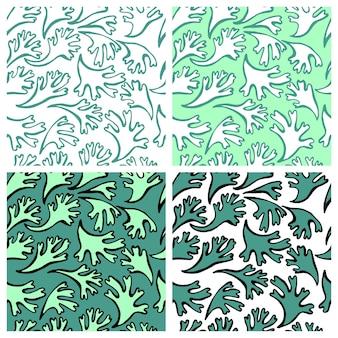 Vecteur de modèle sans couture avec plante de la mer texture pour tissu textile aux couleurs pastel