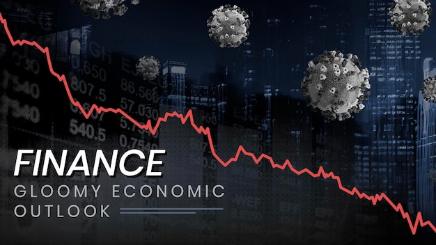 Vecteur de modèle social de perspectives économiques sombres