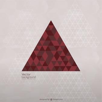 Vecteur modèle de triangle libre