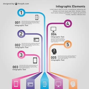 Vecteur moderne de la technologie infographique