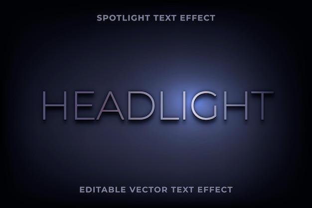 Vecteur modifiable d'effet de texte spotlight