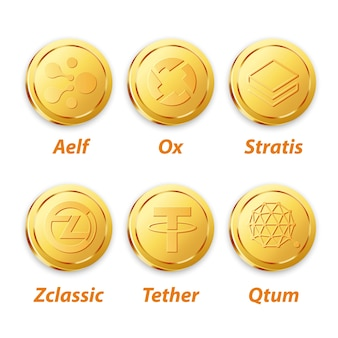 Vecteur de monnaie numérique vector gold