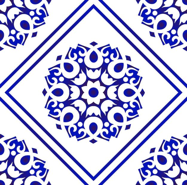 Vecteur de motif de carreaux décoratifs
