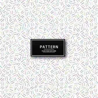 Vecteur de motif coloré géométrique moderne
