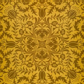 Vecteur de motif de fleur marron vintage