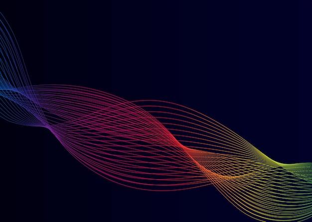 Vecteur de motif d'onde dynamique de visualisation de données