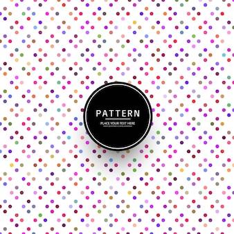 Vecteur de motif pointillé coloré moderne