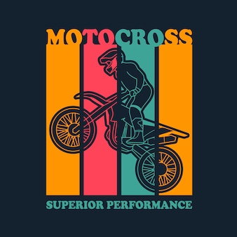 Vecteur de motocross pour la conception de t-shirt