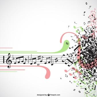 Vecteur de la musique d'explosion