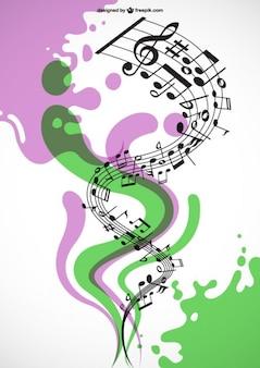 Vecteur de la musique en spirale