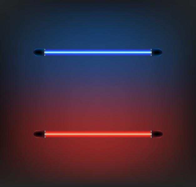 Vecteur néon d'éclairage