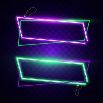 Vecteur de néon moderne. vecteur de bannière horizontale.