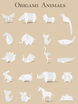 Vecteur d'origami animal