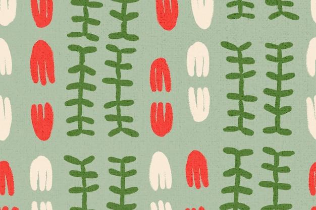 Vecteur d'origine ethnique motif fleur, design vintage