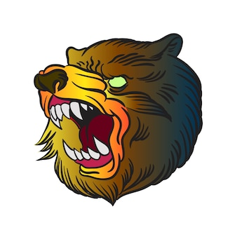 Vecteur d'ours en colère