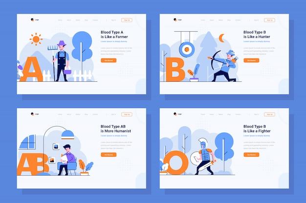 Vecteur de page de destination médicale et médicale illustration dans un style design plat et contour