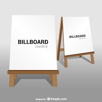 Vecteur panneau d'affichage classique