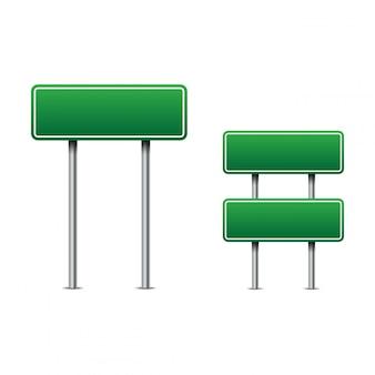 Vecteur de panneaux de signalisation vert