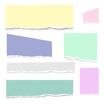 Vecteur de papier cahier déchiré blanc