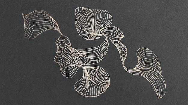 Vecteur de papier peint d'art abstrait tourbillonnant brillant